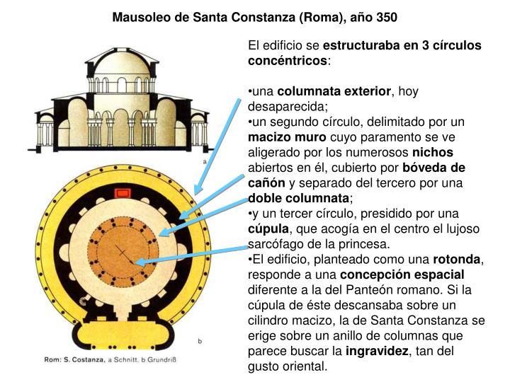 Mausoleo de Santa Constanza (Roma), año 350