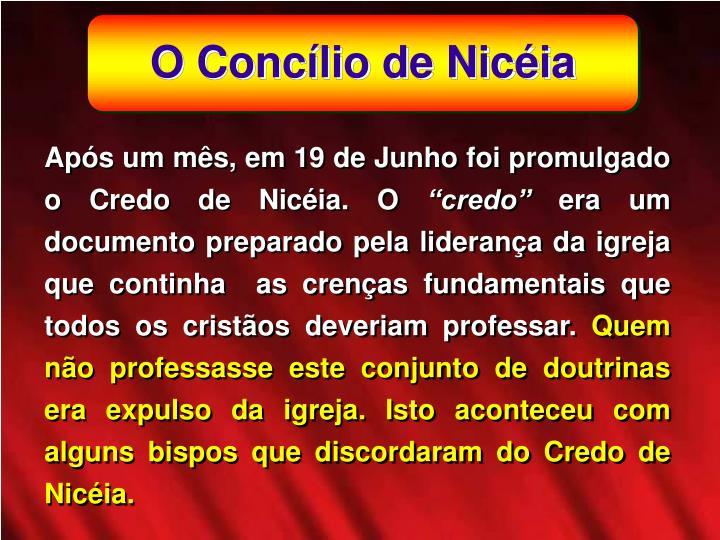 O Conclio de Nicia