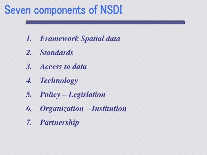 Seven components of NSDI