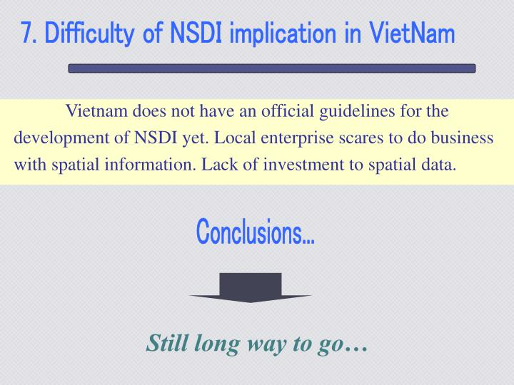 7. Difficulty of NSDI implication in VietNam