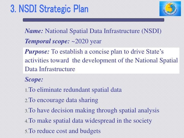 3. NSDI Strategic Plan