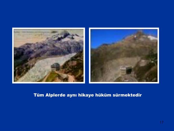 Tüm Alplerde aynı hikaye hüküm sürmektedir