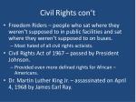 civil rights con t