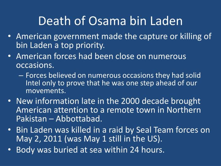 Death of Osama bin Laden