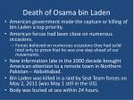 death of osama bin laden