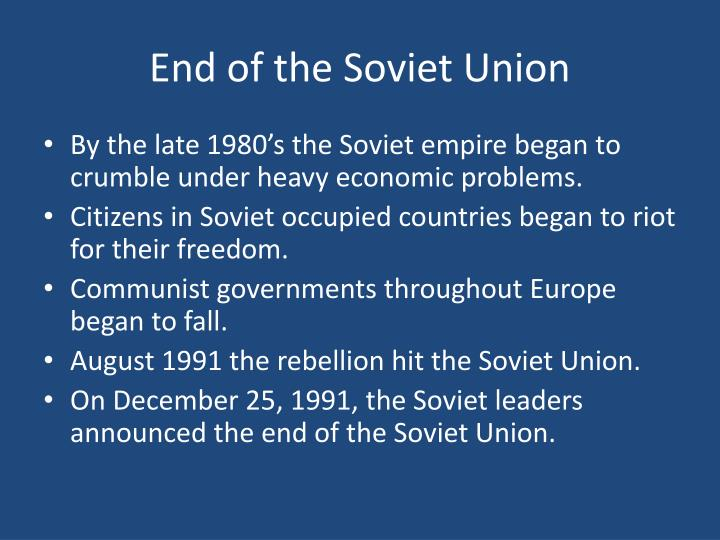 End of the Soviet Union