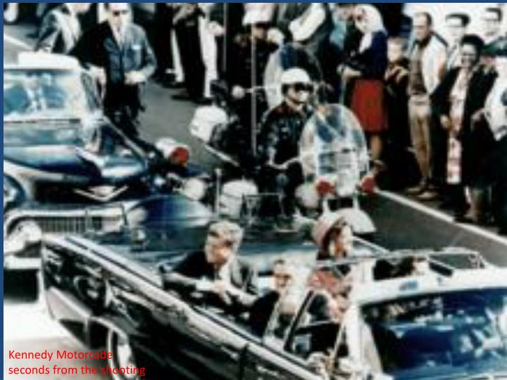 Kennedy Motorcade seconds from the shooting
