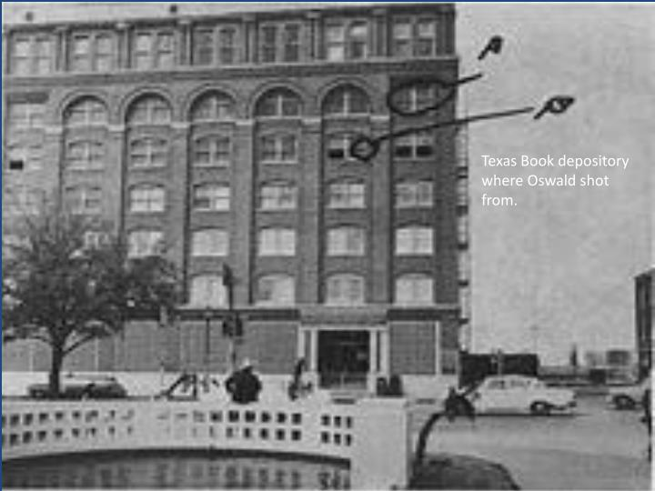 Texas Book depository where Oswald shot from.