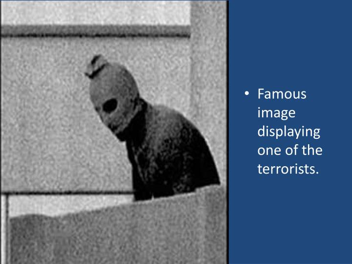 Famous image displaying one of the terrorists.