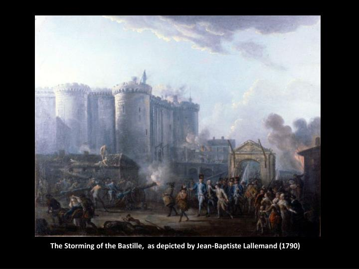 The Storming of the Bastille,  as depicted by Jean-