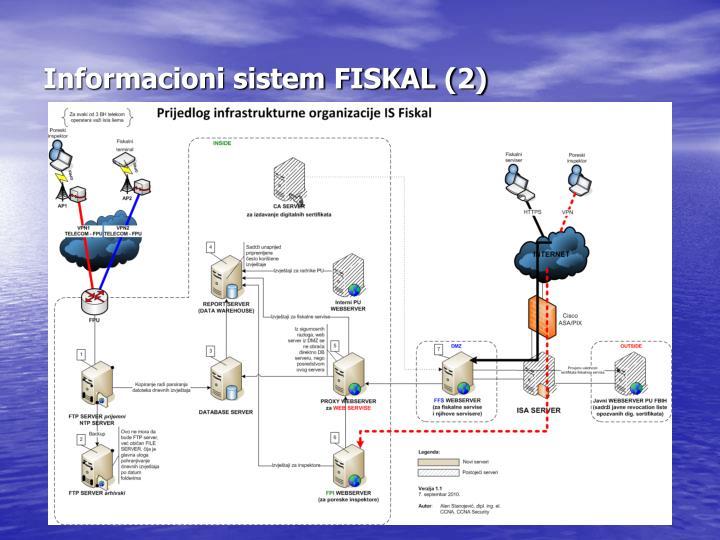 Informacioni sistem FISKAL (2)