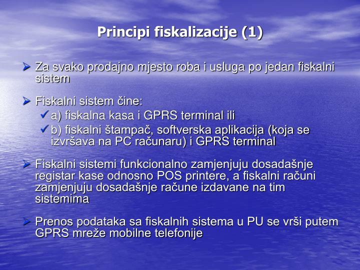 Principi fiskalizacije (1)