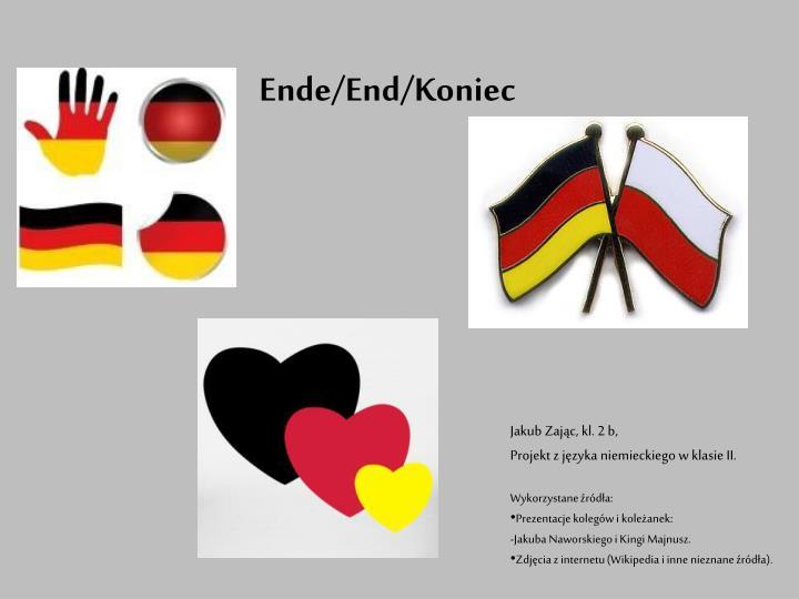 Ende/End/Koniec