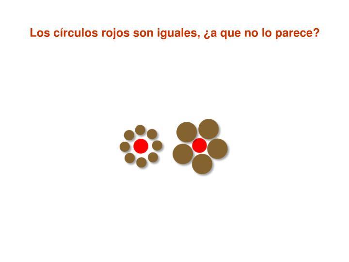 Los círculos rojos son iguales, ¿a que no lo parece?