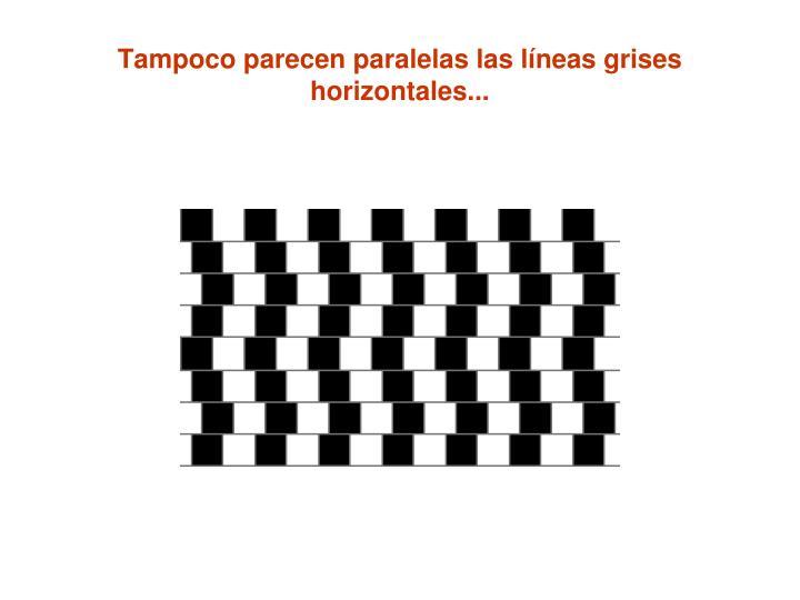 Tampoco parecen paralelas las líneas grises horizontales...