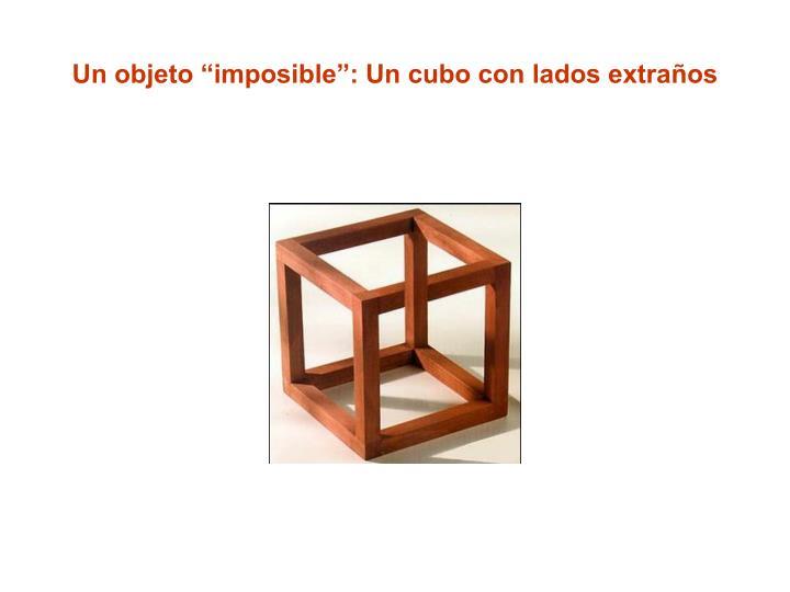 """Un objeto """"imposible"""": Un cubo con lados extraños"""
