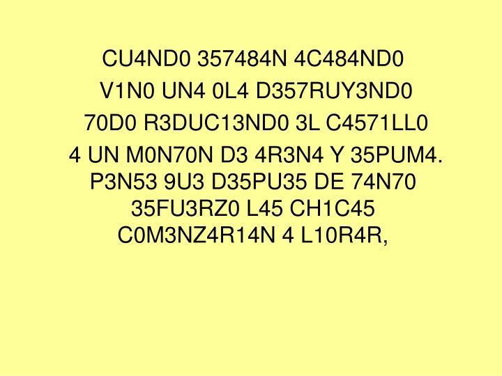 CU4ND0 357484N 4C484ND0