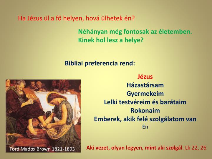 Ha Jézus ül a fő helyen, hová ülhetek én?