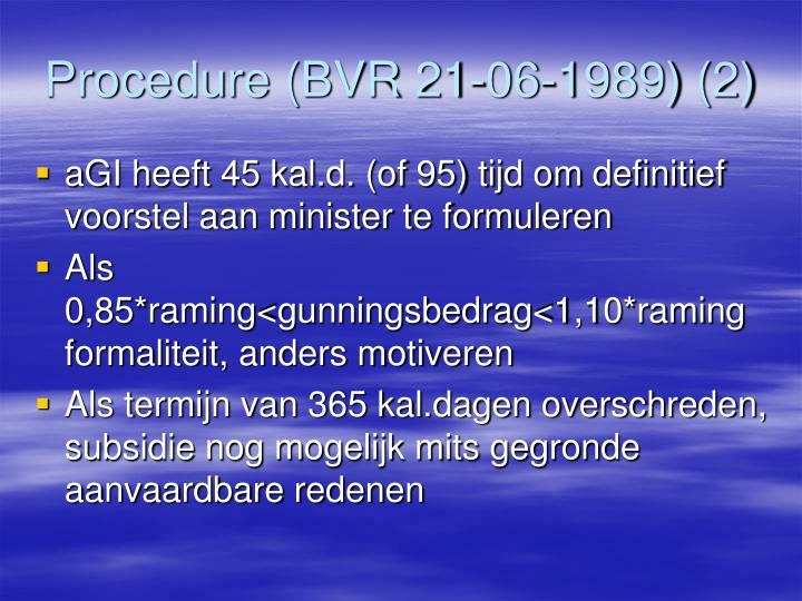Procedure (BVR 21-06-1989) (2)