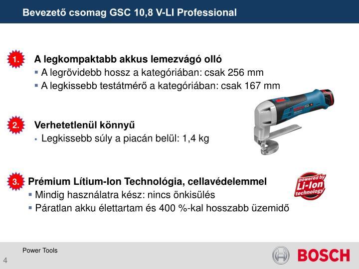 Bevezető csomag GSC 10,8 V-LI Professional