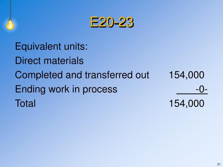 Equivalent units: