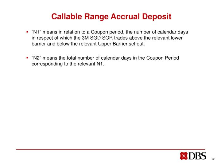 Callable Range Accrual Deposit