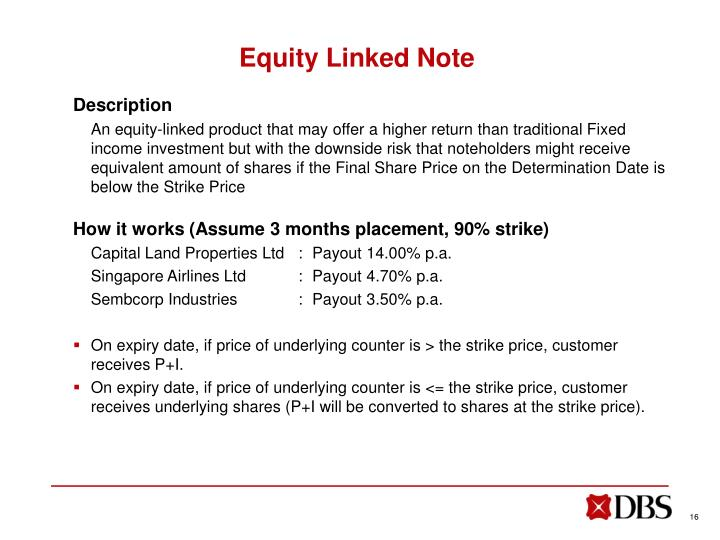 Equity Linked Note