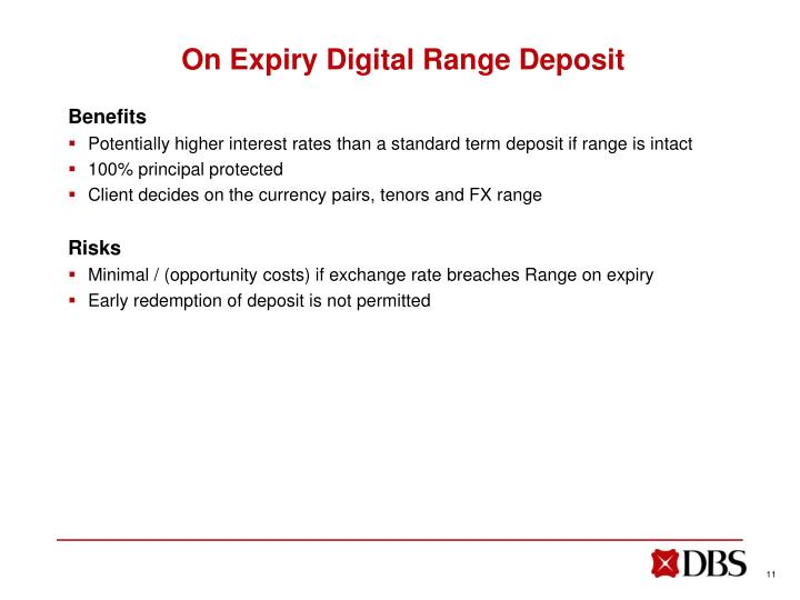 On Expiry Digital Range Deposit