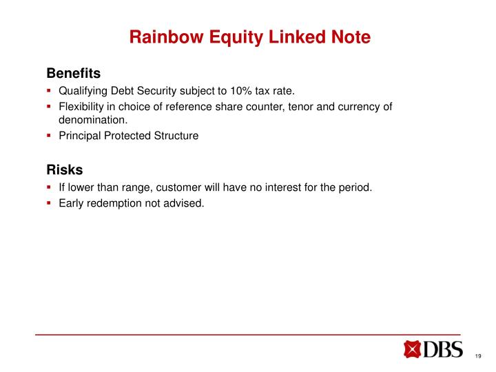 Rainbow Equity Linked Note