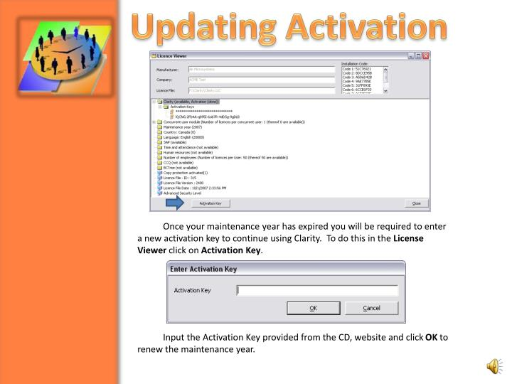 Updating Activation