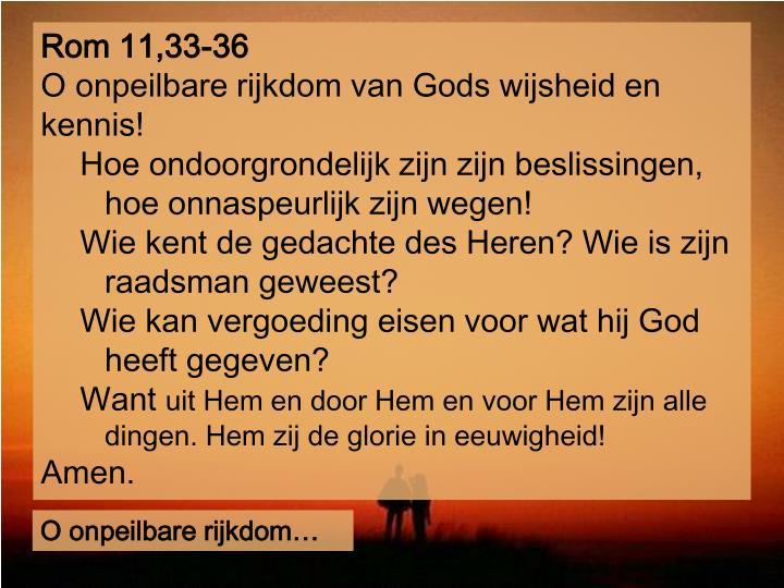 Rom 11,33-36