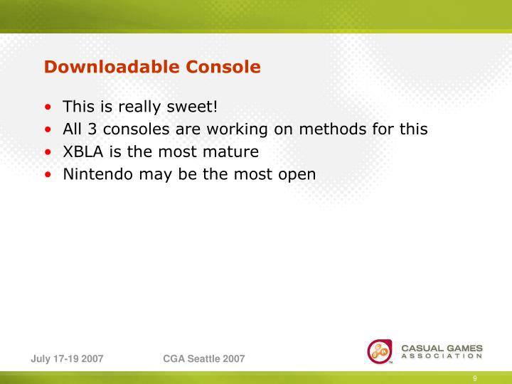 Downloadable Console