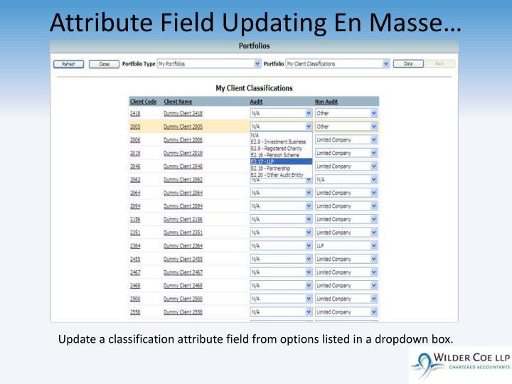 Attribute Field Updating En Masse…