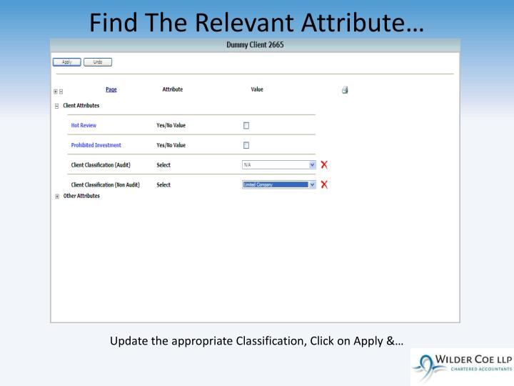 Find The Relevant Attribute…