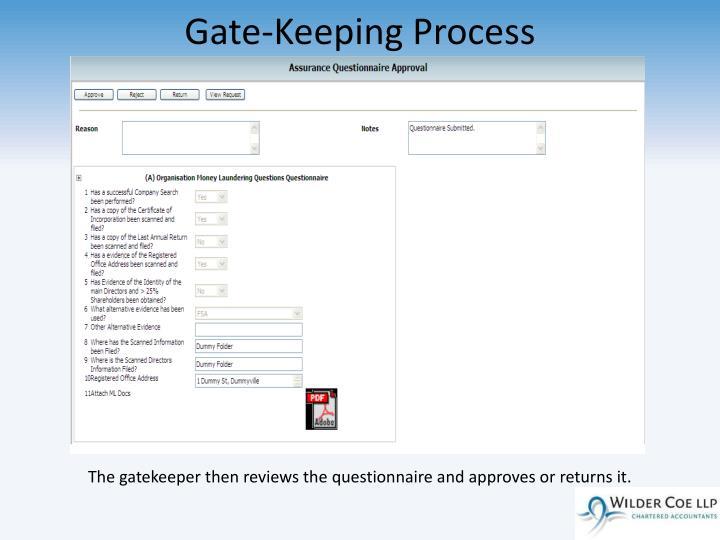 Gate-Keeping Process