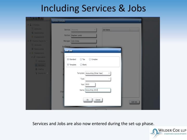 Including Services & Jobs