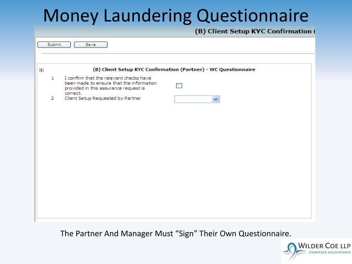 Money Laundering Questionnaire