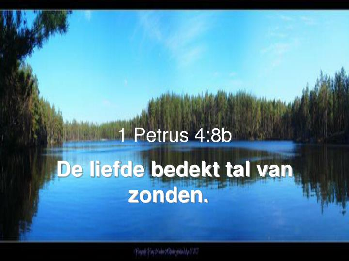 1 Petrus 4:8b