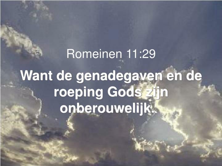 Romeinen 11:29