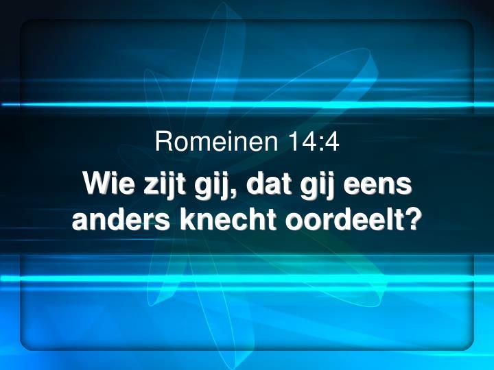 Romeinen 14:4