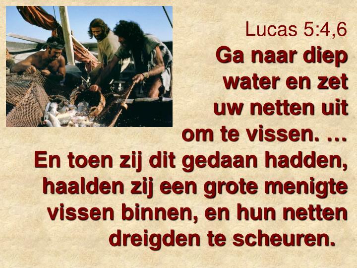 Lucas 5:4,6