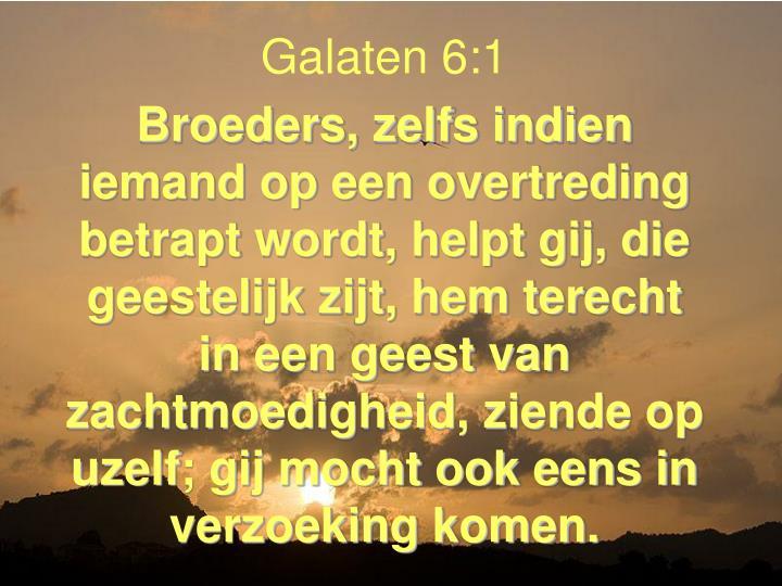 Galaten 6:1