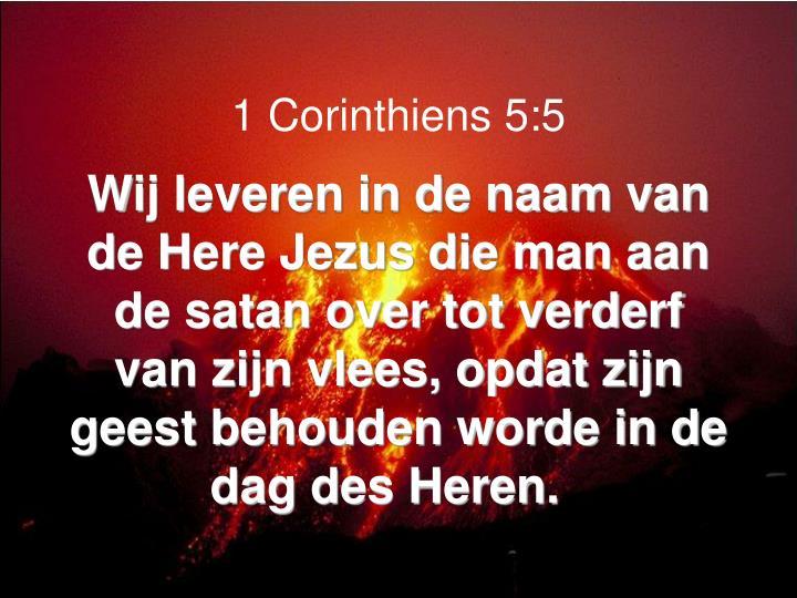 1 Corinthiens 5:5