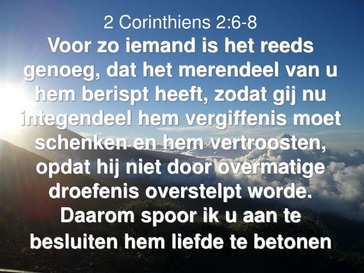 2 Corinthiens 2:6-8