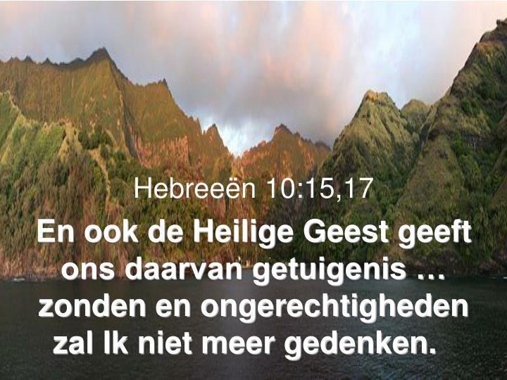Hebreeën 10:15,17