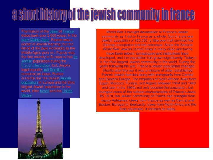 A short history of the jewish community in france