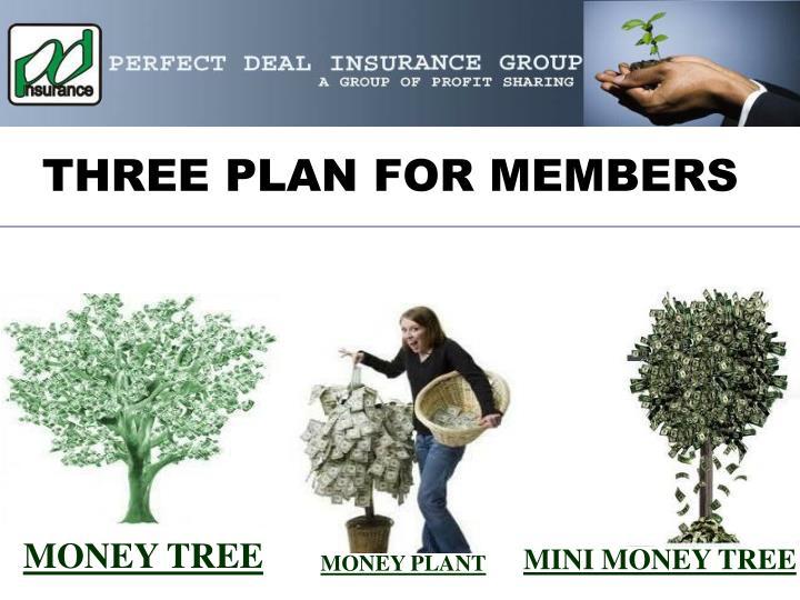 THREE PLAN FOR MEMBERS