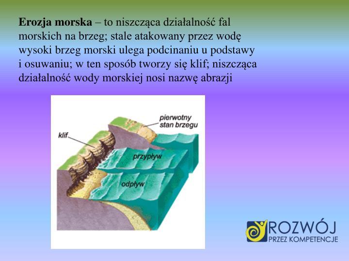 Erozja morska