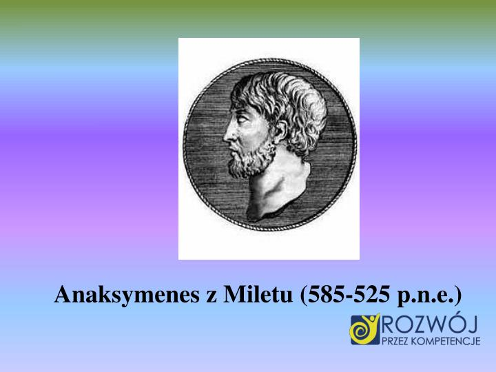 Anaksymenes z Miletu (585-525 p.n.e.)