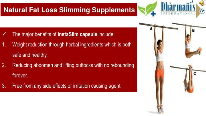Natural Fat Loss Slimming Supplements